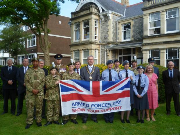 ARMED FORCES DAY: Penarth Town Council marked Armed Forces Day with a flag raising ceremony