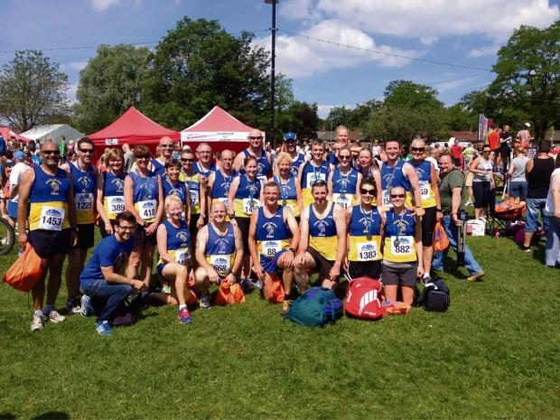 TEAM EFFORT: Penarth and Dinas Runners after the Caerphilly 10k (7400282)