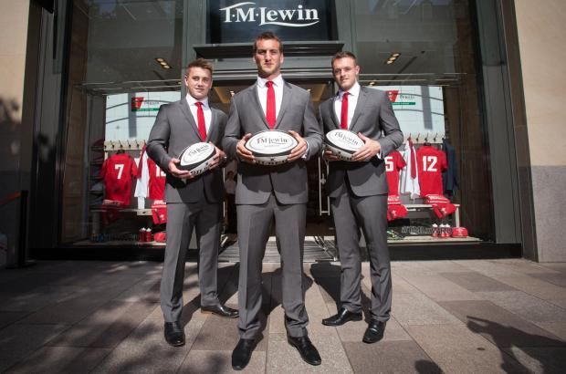Penarth Times: 25.06.14 - Welsh Rugby Union and T M Lewin partnership announcement, Cardiff -  © Huw Evans Agency, Cardiff (7553788)