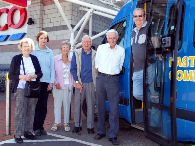 Penarth Times: VITAL SERVICE: The bus takes residents from Llandough to Asda and Tesco supermarkets every Thursday and helps them with their shopping