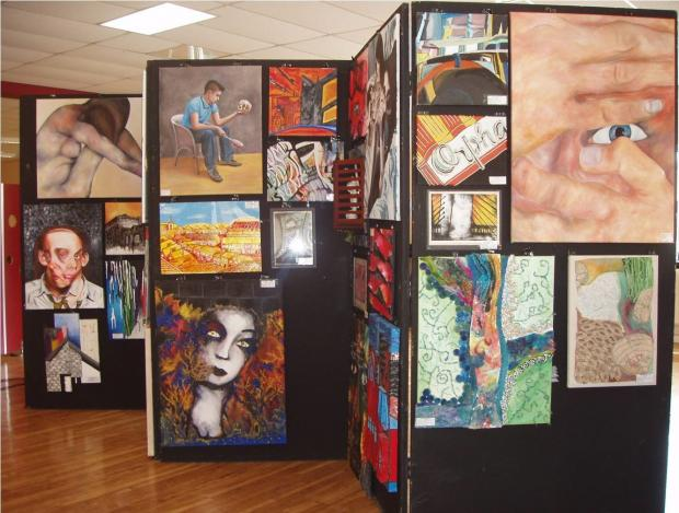 ART EXHIBITION: An exhibition of the artwork of Stanwell School GCSE and A Level classes has been set up in the dining hall for parents and visitors to view during this week's award ceremony and new parents' evening.