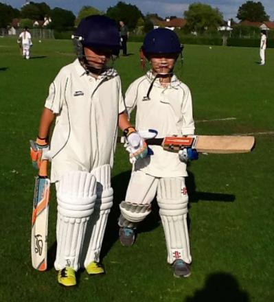 IMPRESSIVE: Eight-year-olds Daniel Ingram and Harry Davies produced impressive first appearances for Penarth Cricket Club U11s.