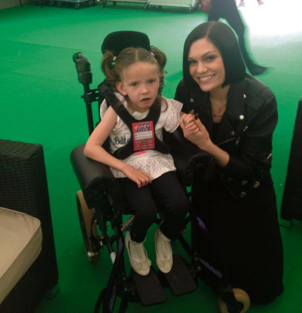 Penarth Times: POP STAR: Ruby Haxter with Jessie J backstage at South West Live