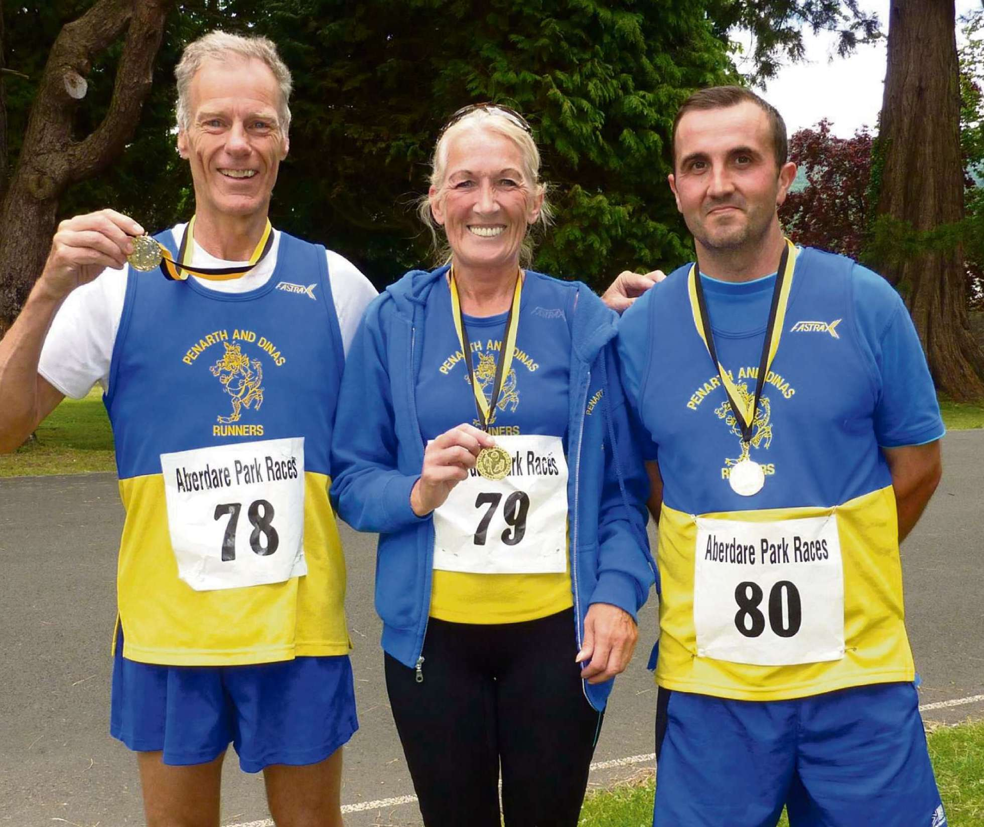 TEAM RUNNERS: (from left) Malcolm Bradley, Yvonne Williams and Glenn Powell
