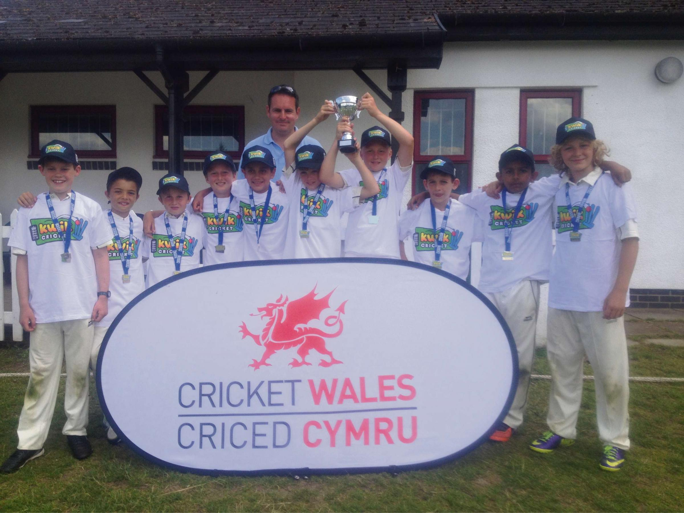 KWIK CRICKET WIN: Youngsters from Evenlode Primary School, Penarth, who won the mixed competition, were among more than 300 children taking part in the South Wales Kwik Cricket finals at St Fagan's Cricket Club.