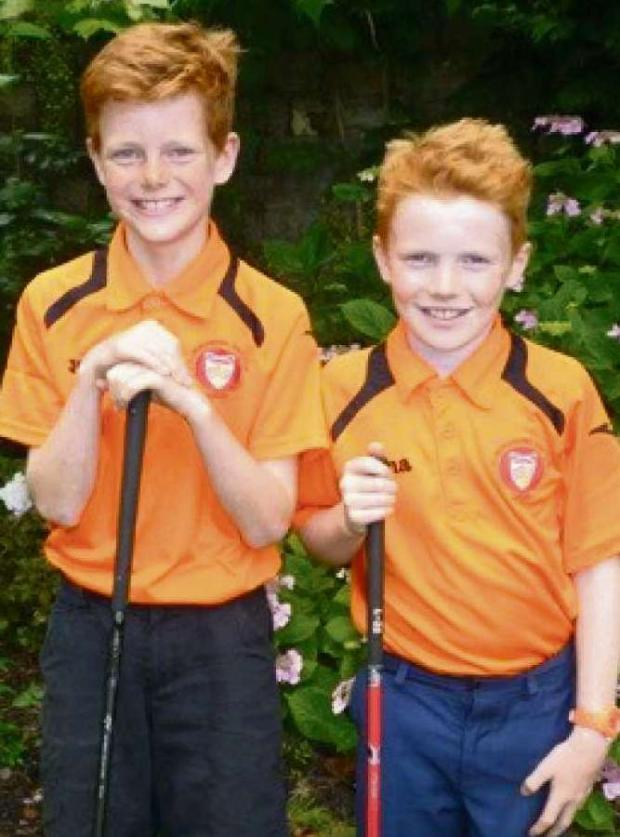 Penarth Times: FINAL QUALIFIERS: Glamorganshire Golf Club juniors Thomas Savill and Charlie Jones who have qualified for the final of the annual Shelter Cymru Junior Golf Championship.