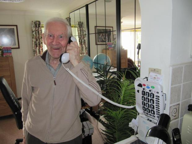 Penarth Times: PHONE CALL: William 'Bill' Ledbury is encouraging Penarth residents to sign up for The Silver Line helpline (7620676)