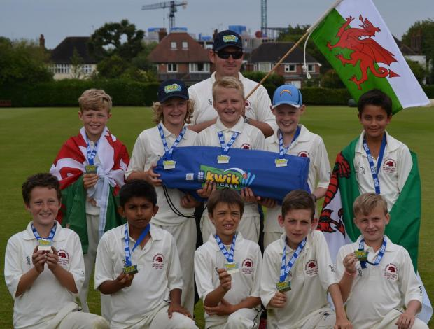 GREAT DISPLAY: Flying the flag for Wales in the national Midlands Kwik Cricket finals were youngsters from Evenlode Primary School, Penarth, who produced a series of fine performances to finish runners-up.