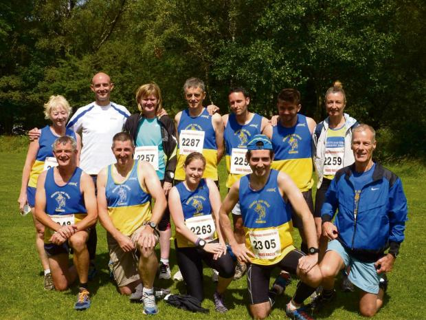 TEAM: Penarth and Dinas Runners before the race