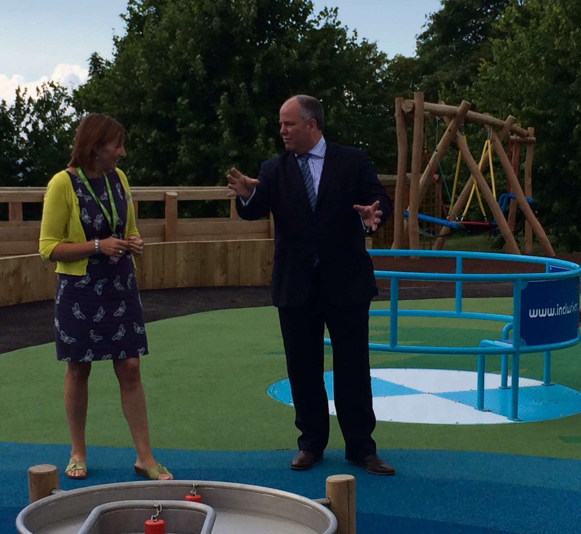 PLAYGROUND: Andrew RT Davies AM has praised the new playground at Ty Hafan