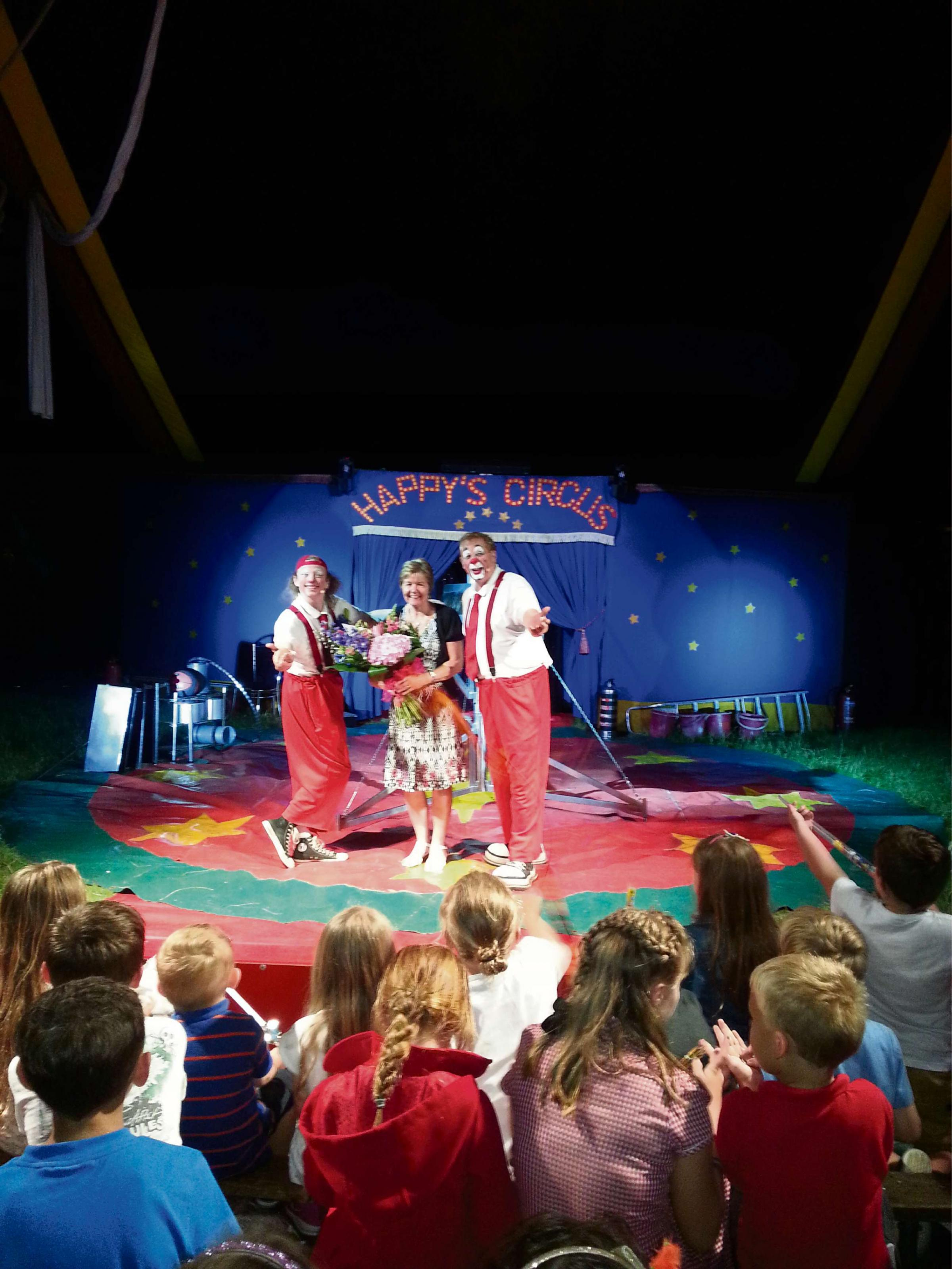Fun at the circus for school children Dinas Powys
