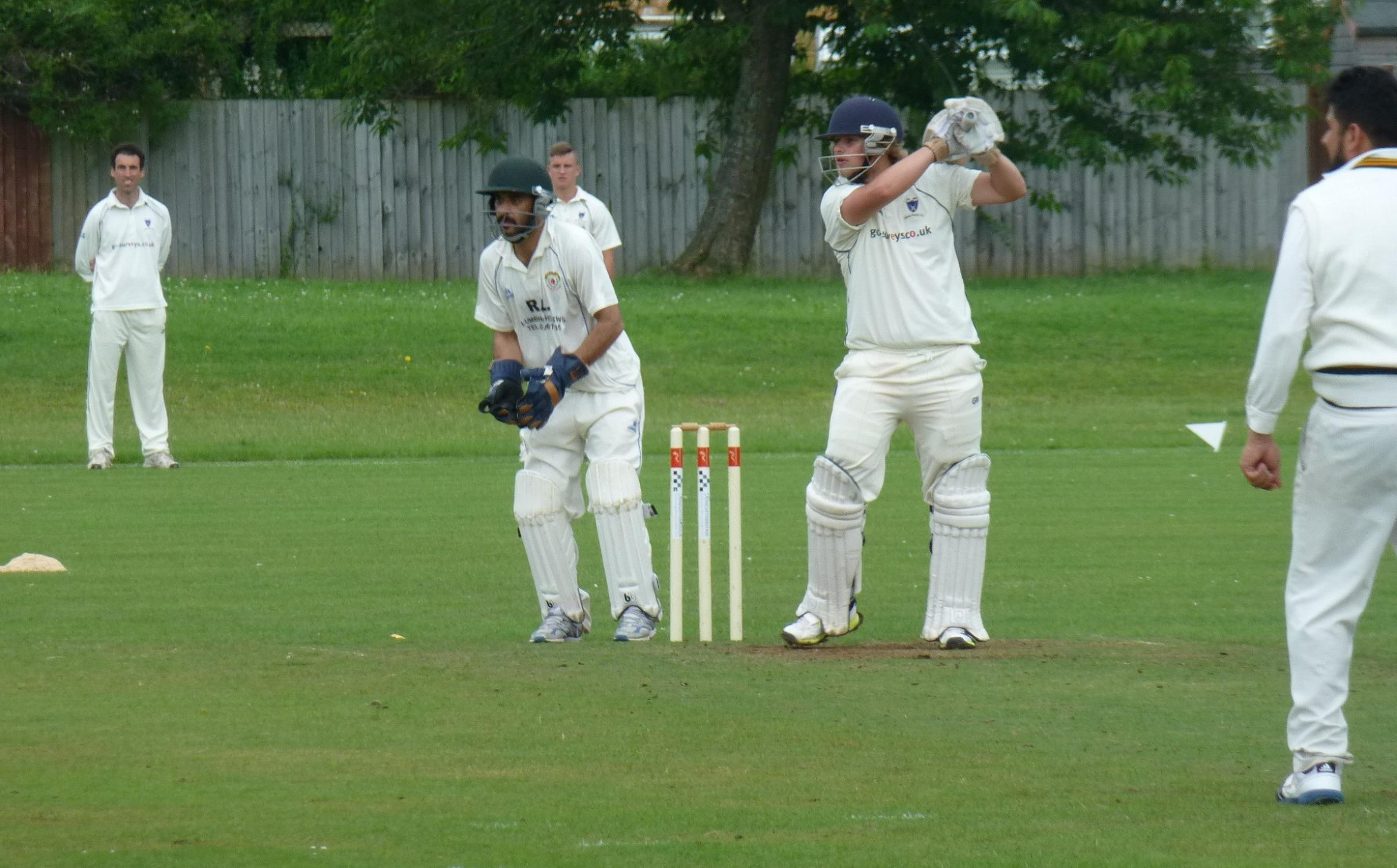 TOP KNOCK: Opener Nathan Piddock posted his side's highest score as Dinas Powys Cricket Club Firsts recorded a remarkable victory in a low-scoring match with Cardiff Gymkhana at Bryn-y-Don.