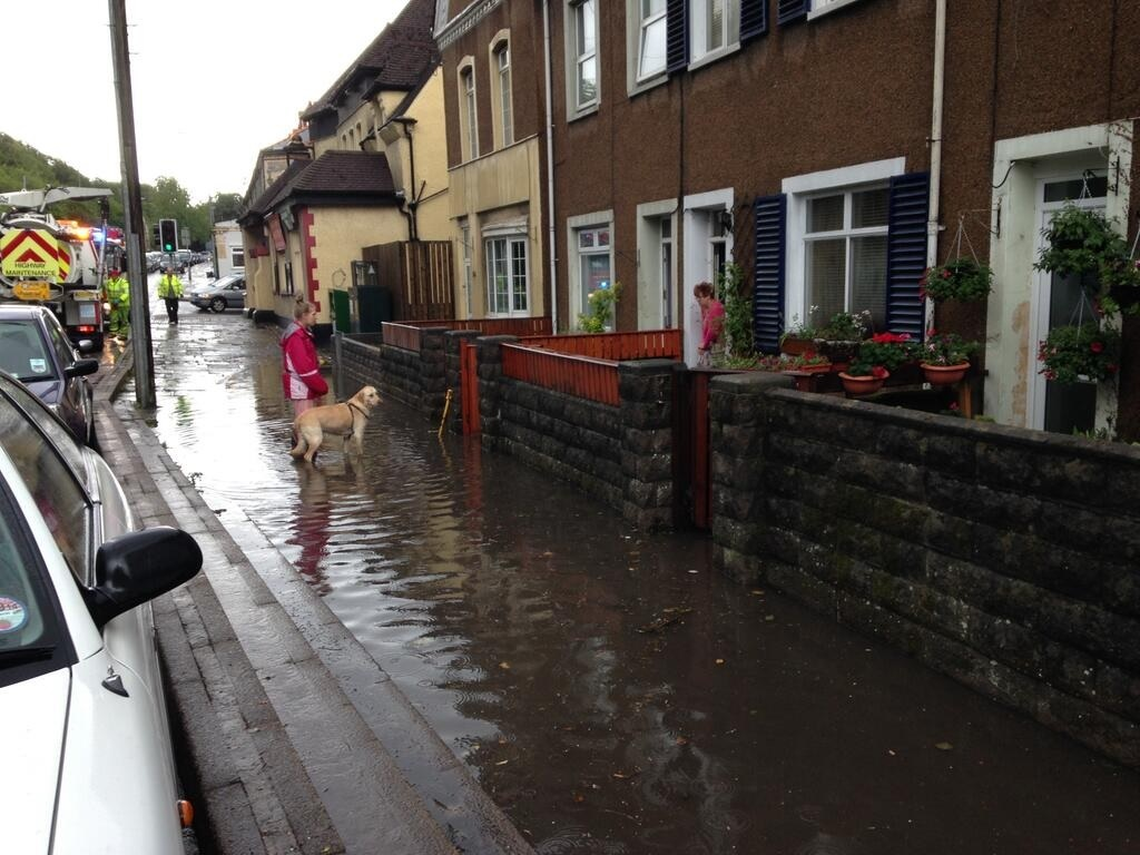 FLASH FLOODING: Stephen Doughty MP tweeted this picture of flash flooding on Windsor Road in May