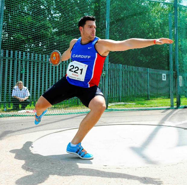 DISCUS: Brett Morse has made it through to the men's discus final of the Glas