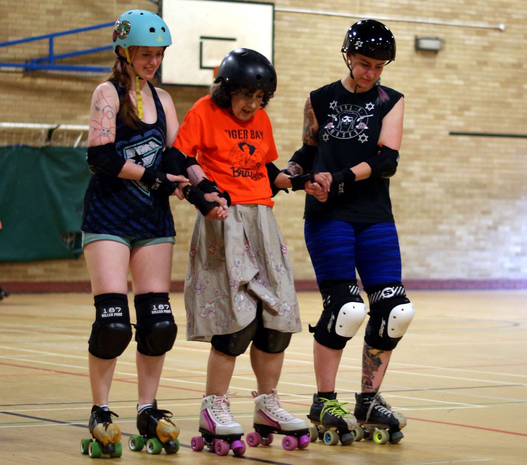 Tiger Bay Brawlers make roller skating dream come true for local pensioner