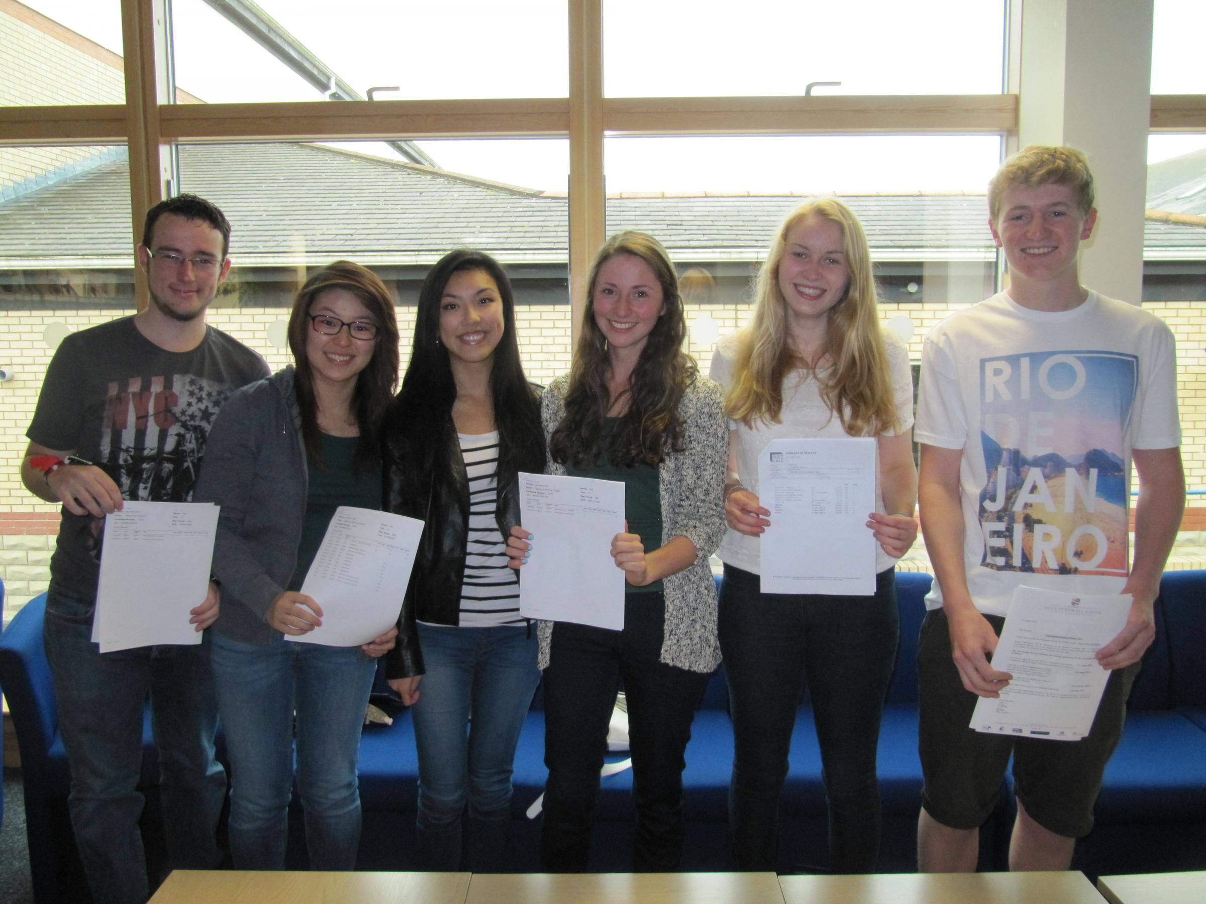 Stanwell School pupils celebrate A-level results day