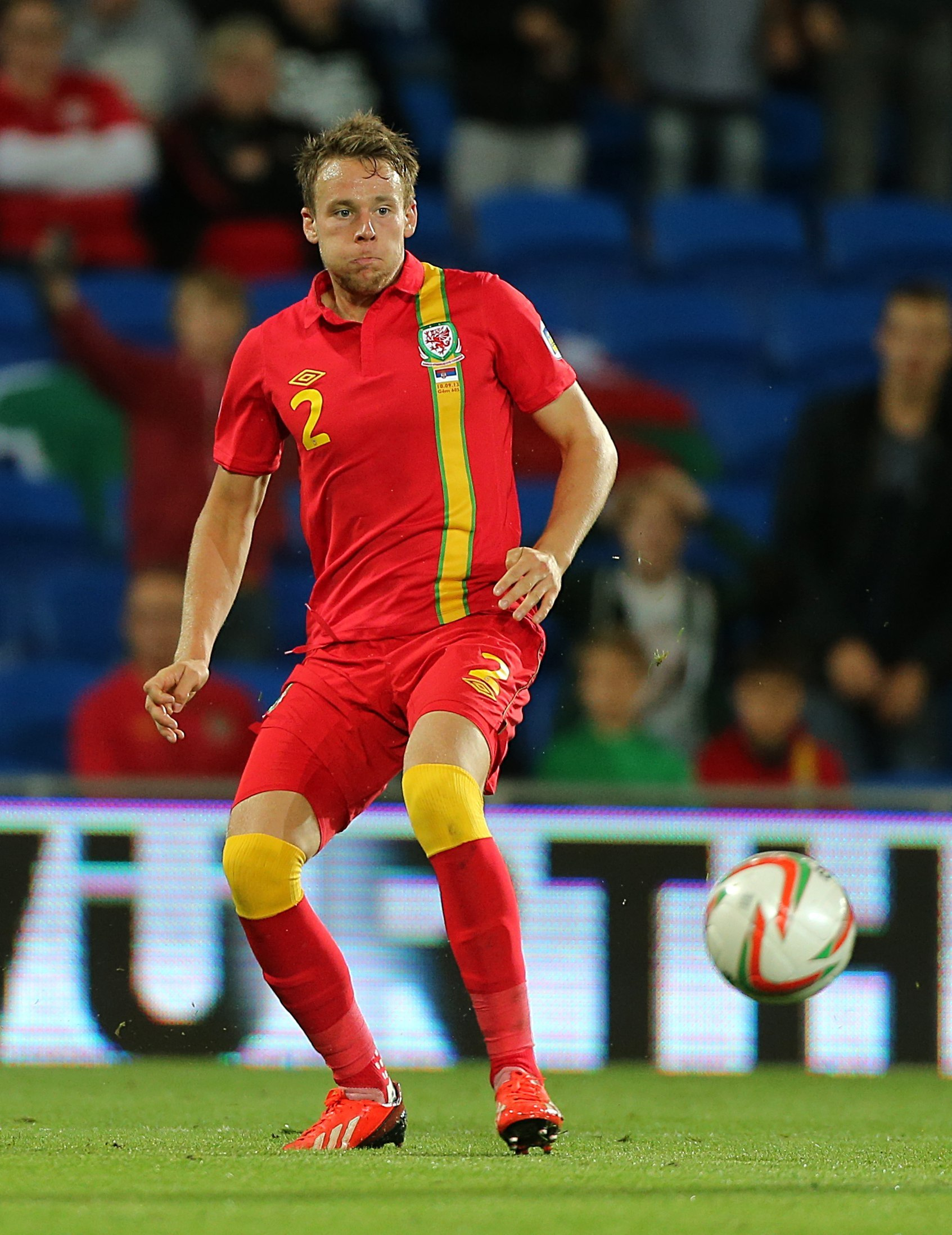 Wales' Chris Gunter during the FIFA World Cup Qualifying match at Cardiff City Stadium, Cardiff. PRESS ASSOCIATION Photo. Picture date: Tuesday September 10, 2013. See PA story SOCCER Wales. Photo credit should read: Nick Potts/PA Wire.. (1090187)