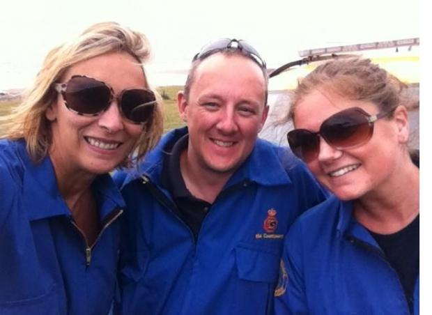 QUALIFIED: (from left) Gemma Sawyer, Steve Wilford and Sarah Murphy following their successful assessment