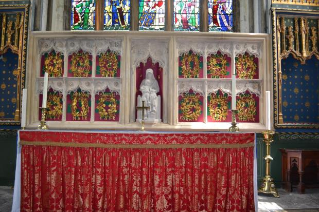 ART: The magnificent reredos screen at Llandaff Cathedral, one of Frank Roper's masterpieces