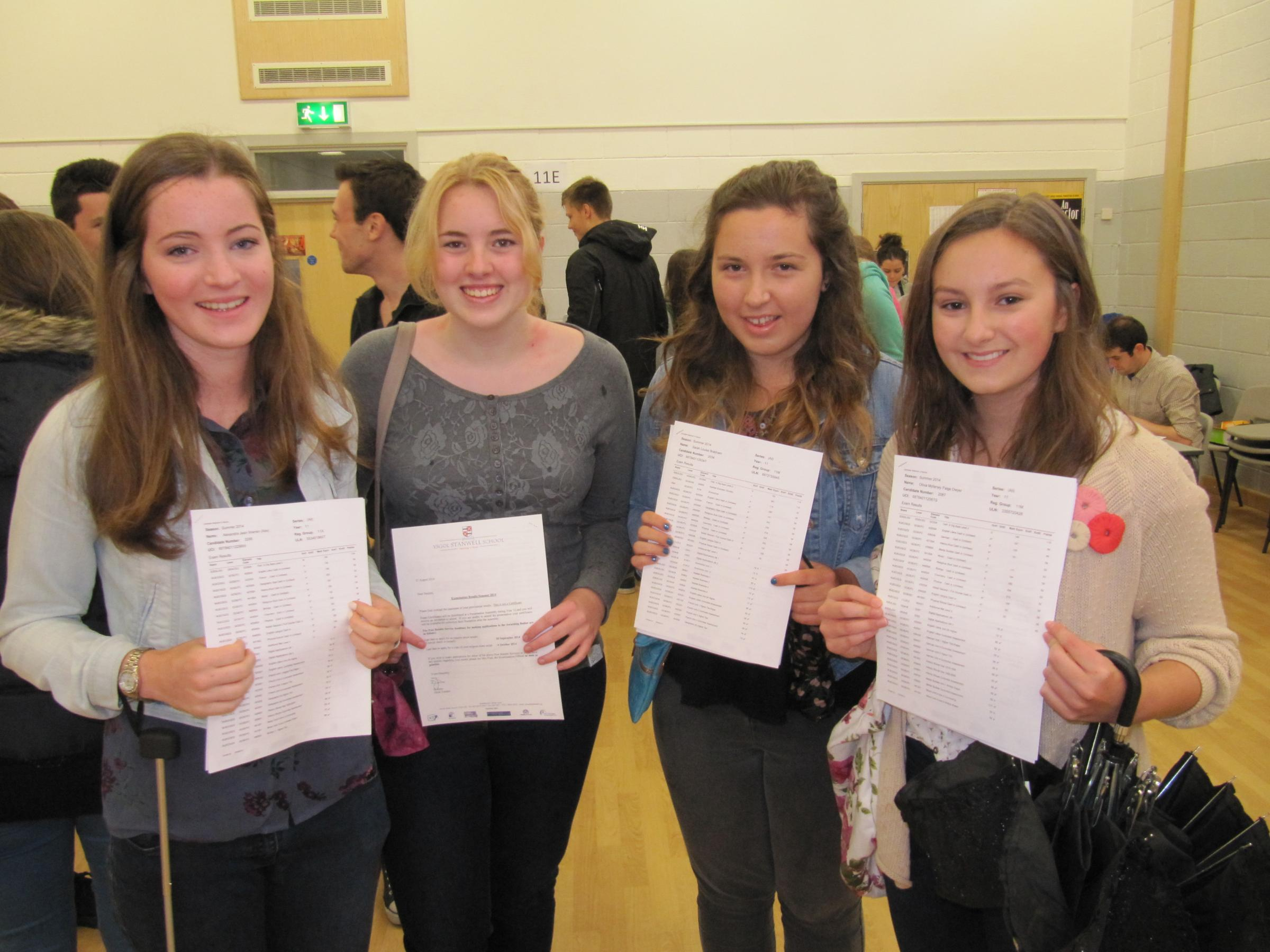 Stanwell School pupils make the grade with best ever GCSE results