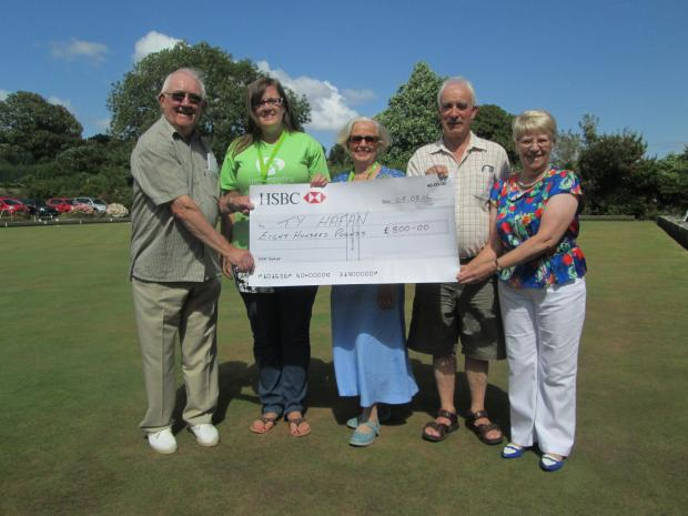 DONATION: Penarth Bowling Club raised £800 for Ty Hafan