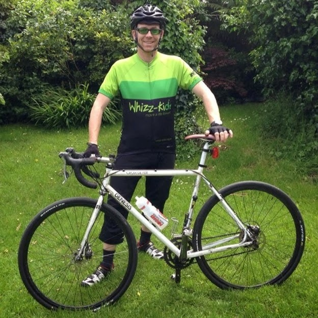 CYCLIST: Dave Hann has finished his 2,525 mile cycle around the UK