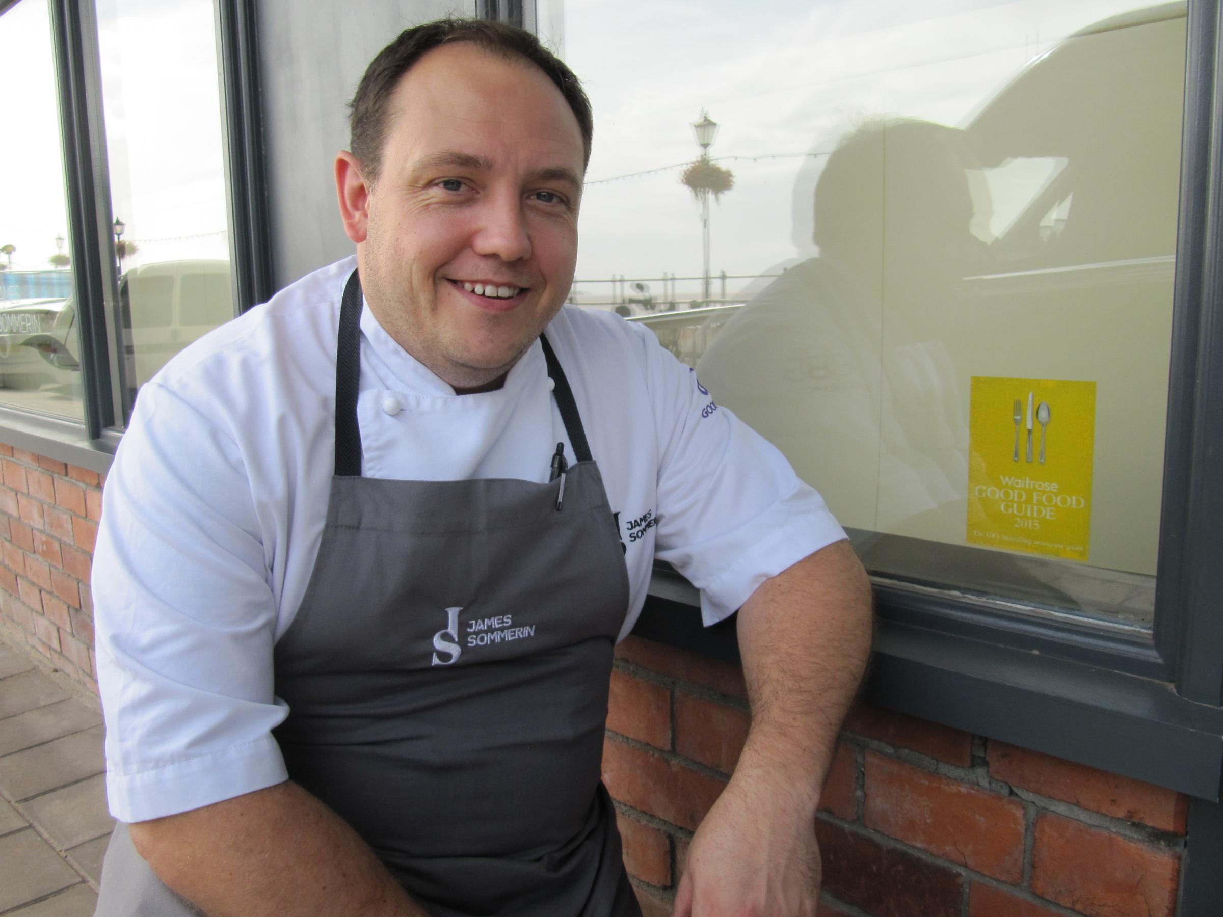 RECOGNITION: Chef James Sommerin said he was gobsmacked to reach 30th place in the Good Food Guide 2015 (9783524)