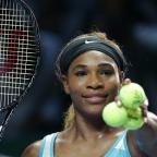 Penarth Times: Serena Williams must wait to see whether she reaches the semi-finals of the WTA Finals in Singapore (AP)