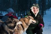 DREAM COME TRUE: Ffion Jackson during her Christmas visit to Lapland