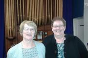 Mrs Ann Niblett (left) was elected as the Vice Chair of Penarth Cytun and will succeed the Rev Sue Fender (right)