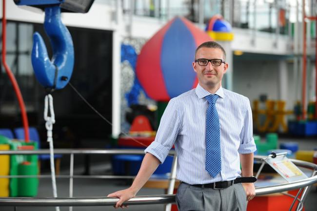 John Thomson, head of physics at Stanwell School in Penarth pictured at Focus on Science campaign event at Techniquest in Cardiff. Picture by Wales News Service