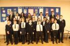 Stanwell school pupils celebrate their NACE award (53885112)
