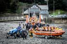 The Penarth Lifeboat Station team in January this year with Jason Dunlop (front centre) and Andrew Rabbioti (front second from left) (54565019)