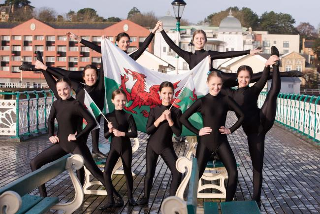 Performing Arts Academy Wales dancers pose on Penarth Pier as they prepare to represent Wales at the Dance World Cup (55156205)