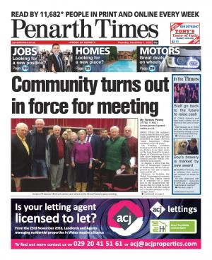 "Penarth Times: Hundreds attend village's ""most important meeting in 50 years"""