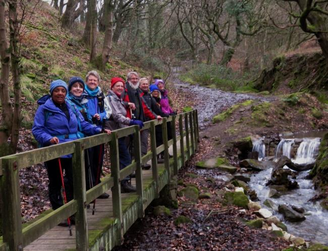 Eight walkers joined leader Geraint for a walk through Cwm Brombil