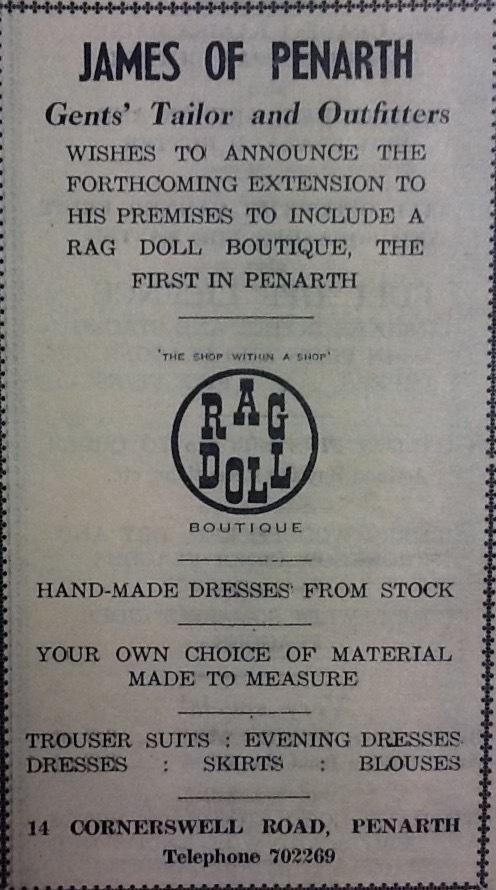 An advert from the Penarth Times in the edition of March 23, 1967