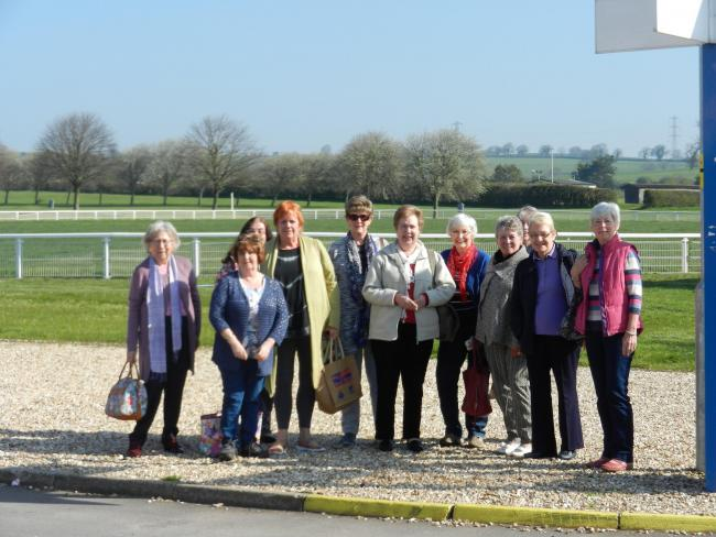 Sully U3A's Knitters and Stitchers group during their trip to the Bath and West Showground