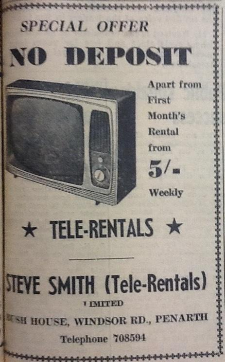 An advert from the Penarth Times in the edition of April 21, 1967