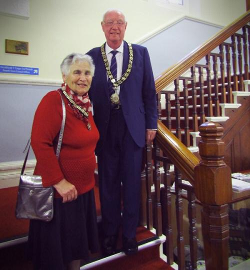 Cllr Ken Lloyd, the new mayor of Penarth with his consort Georgia Bennett