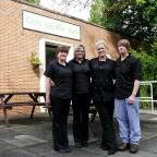 Penarth Times: Top marks: Natasha Vaughan (second right) with Tracey Price, Jackie Vaughan and Rosemary Mecklamburgh-Evans, of The Café on the Park, Mamhilad Park Estate, Pontypool
