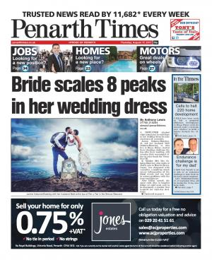 Penarth Times: Penarth wife climbs eight Welsh peaks in wedding dress to raise funds for Vasculitis UK charity