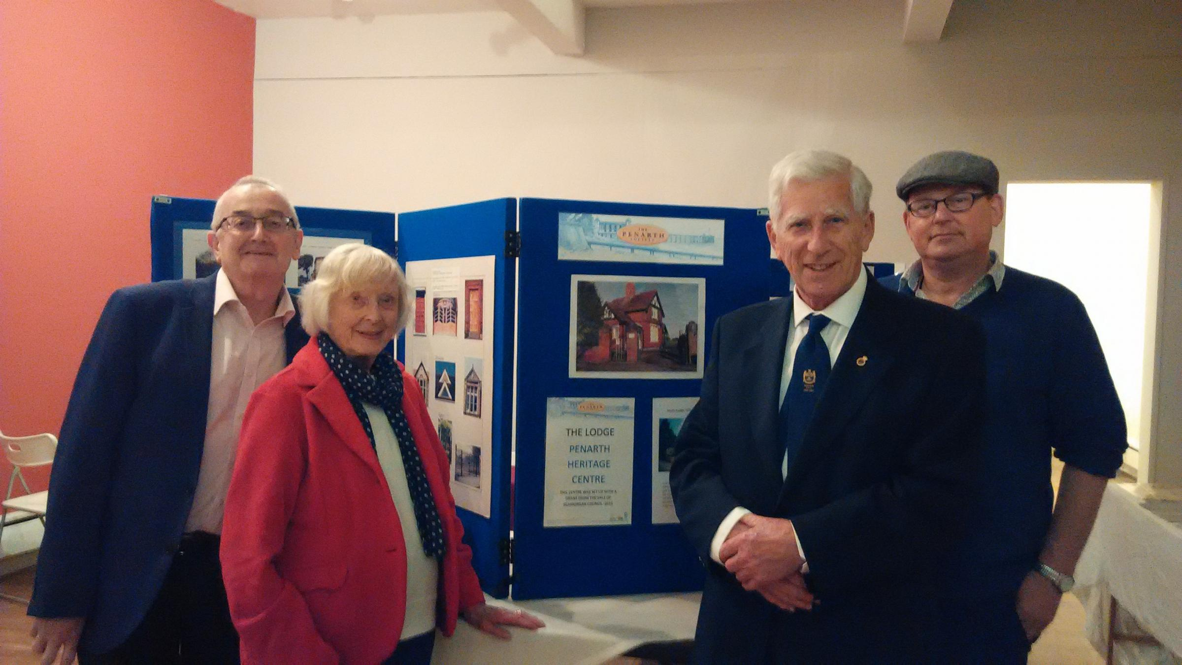 Members of Penarth Civic Society and the Penarth Tourism and Visitor Assocation (L to R): Chris Wyatt, Audrey Poole, Anthony Ernest and Martin Gossage