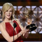 Penarth Times: Nicole Kidman accepts the award for outstanding lead actress in a limited series or a movie for Big Little Lies (Chris Pizzello/Invision/AP)