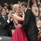 Penarth Times: Nicole Kidman congratulates Alexander Skarsgard (Alex Berliner/Invision for the Television Academy/AP)