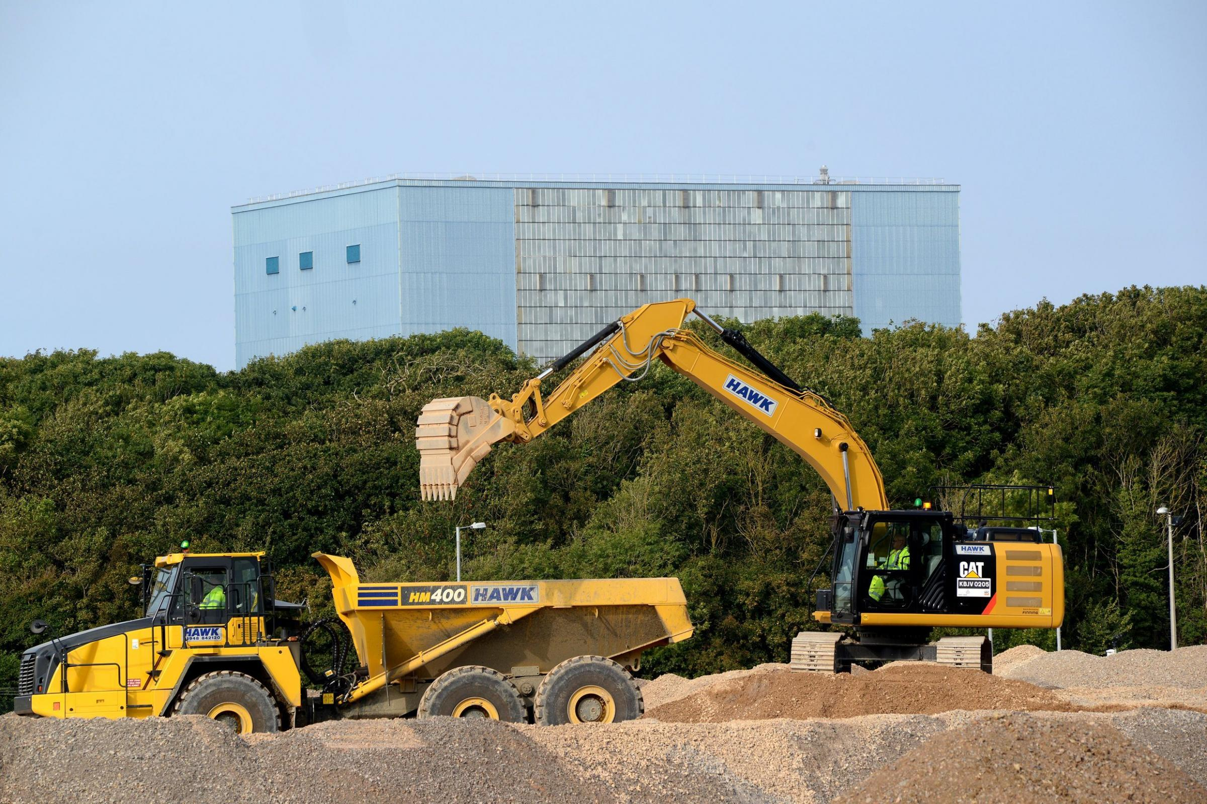 Work on the Site at Hinkley point C has been in full swing
