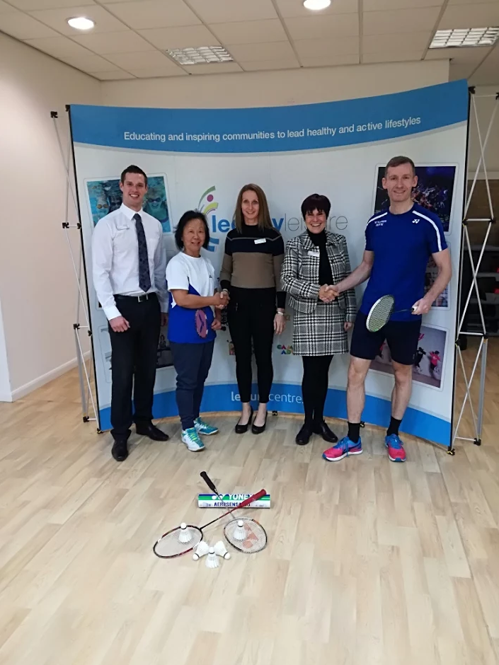 Legacy Leisure has provide £440 for the Vale and Penarth Junior Badminton Club to help with coaching and equipment
