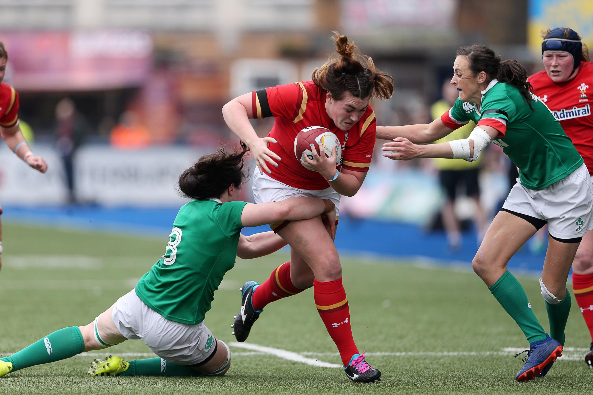 FORWARD POWER: Cerys Hale in action against Ireland in last year's Six Nations