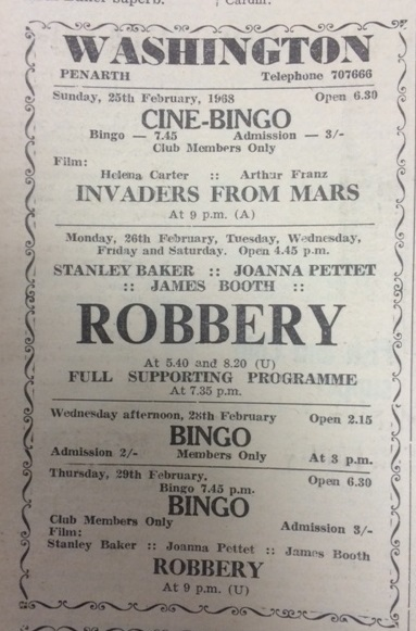 An advert from the Penarth Times of Friday February 23, 1968