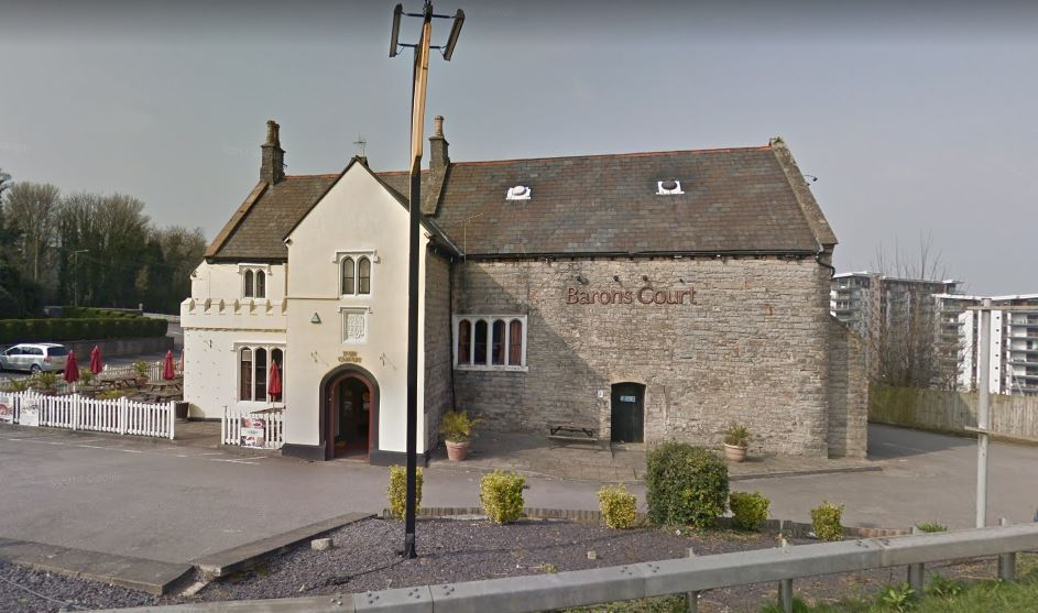 A large quantity of meat was stolen from the Baron's Court pub in Penarth on Wednesday morning